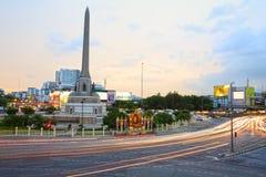 Militär-Victory Monument an der Dämmerung Lizenzfreies Stockbild
