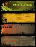 militära baner stock illustrationer