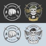 Militära emblem Arkivbilder