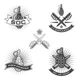 Militära emblem Arkivbild