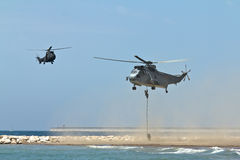 militära helikoptrar royaltyfri foto