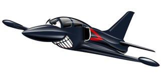 Militära Jet Airplane Cartoon stock illustrationer