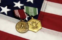 militära medaljer Royaltyfri Foto