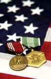 militära medaljer Arkivfoton