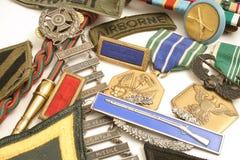 militära medaljer Arkivfoto