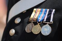 militära medaljer Fotografering för Bildbyråer