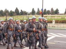 Militära museumsoldater Royaltyfri Bild