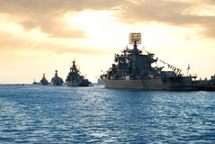 militära radships Arkivfoto