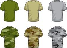 militära skjortor royaltyfri illustrationer