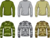 militära skjortor Arkivbilder