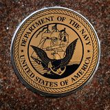 Militära symboler för USA för luft för flottor för Förenta staternaservicemarin arkivfoto