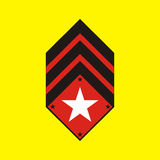 Militärabzeichen stockbild