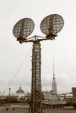Militärantenne Schwarzes und whiteMilitary Antenne Rebecca 6 lizenzfreie stockbilder
