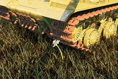 Militärbehälter und Blume tot und lebendig, sind diese Sachen immer nahe gelegen lizenzfreies stockbild
