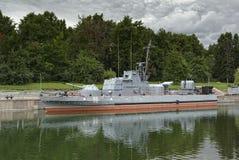 Militärboot stockbild