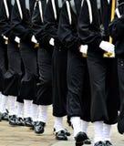 Militären ståtar att marschera för soldater Arkivfoto