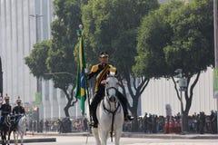 Militären ståtar av självständighetsdagen i Rio de Janeiro, Brasilien arkivfoto