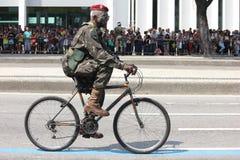 Militären ståtar av självständighetsdagen i Rio de Janeiro, Brasilien royaltyfri bild