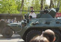 Militären ståtar för den 70th årsdagen av segern över fas Arkivbild