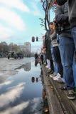 Militären ståtar i BELGRADE Fotografering för Bildbyråer