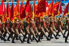 Militären ståtar i Moskva, Ryssland, 2015 royaltyfria foton