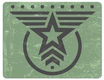 Militären utformar grungeemblemen Royaltyfri Bild