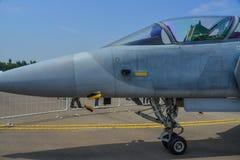 Militärflugzeuge für Anzeige in Singapur Lizenzfreie Stockfotos