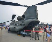 Militärflugzeuge für Anzeige in Singapur Lizenzfreies Stockbild