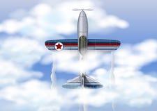 Militärflugzeuge in thr-Himmel stock abbildung