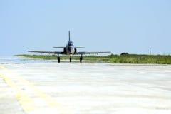 Militärflugzeugsteuerfestsetzung Lizenzfreie Stockfotos