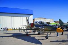 Militärflygplan för L-39ZA Albatros Fotografering för Bildbyråer