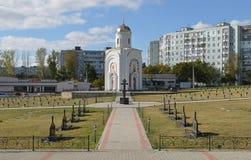 Militärfriedhof, Bieger, Tighina, Transnistrien stockfotografie