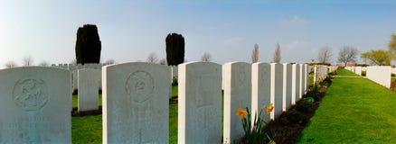 Militärfriedhof des ersten Weltkriegs Stockfotografie