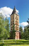 Militärfriedhof und Belfry der Kirche unserer Dame in Lappeenranta Süd-Karelien finnland Lizenzfreie Stockfotos