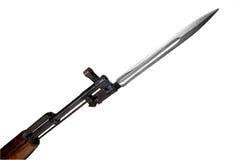 Militärgewehr mit Bajonett Stockfoto