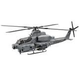 Militärhubschrauber Bell-AH Viper 1Z lokalisiert auf weißer Illustration 3D Lizenzfreie Stockfotos
