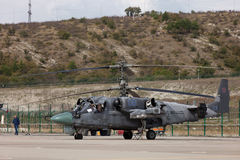 Militärhubschrauber Ka-52 Lizenzfreie Stockbilder