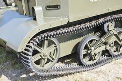 militärisch Bahn auf Bren Gun Carrier Lizenzfreie Stockfotos