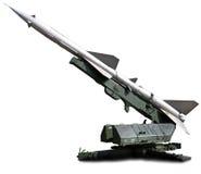Militärische Ausrüstung Starten Sie eine Einrichtung anstrebte den Himmel Lizenzfreies Stockfoto