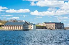 Militärische historische Gebäude Stockbild