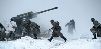 Militärische historische Rekonstruktion des Zweiten Weltkrieges Stockfoto