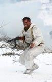 Militärische historische Rekonstruktion des Zweiten Weltkrieges Stockfotografie
