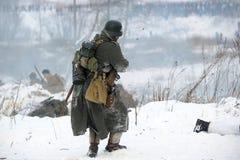 Militärische historische Rekonstruktion des Zweiten Weltkrieges Lizenzfreie Stockfotografie