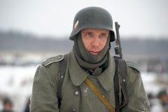 Militärische historische Rekonstruktion des Zweiten Weltkrieges Stockfotos
