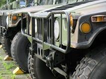 Militärische nicht für den Straßenverkehr Fahrzeuge Lizenzfreies Stockbild