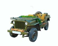 Militärisches altes Auto Stockbild