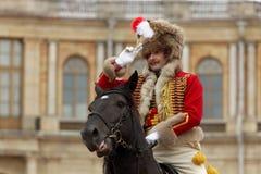 Militärisches historisches Festival Gatchinskaya Byl Lizenzfreies Stockbild