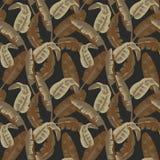 Militärisches nahtloses Muster mit tropischen Blättern Nahtlose quadratische Fliesen Camo-Mode-Beschaffenheit Amerikanischer Sold Stockbilder
