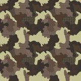 Militärisches nahtloses Muster Nahtlose quadratische Fliesen Camo-Mode-Beschaffenheit Amerikanischer Soldat Lizenzfreie Stockfotografie