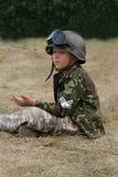 Militärjunge Stockbild